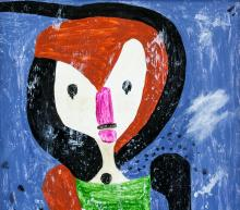 Lot 222: Paul Klee German Swiss Expressionist Oil on Canvas