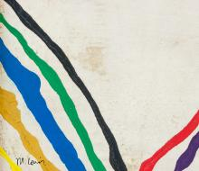 Lot 223: Morris Louis American Color School Oil on Canvas