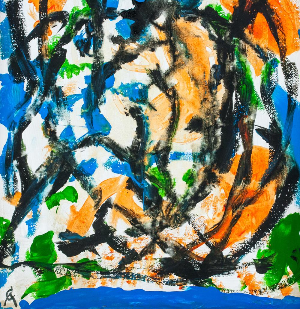 Lot 226: Rolf Cavael German Abstract Oil on Canvas