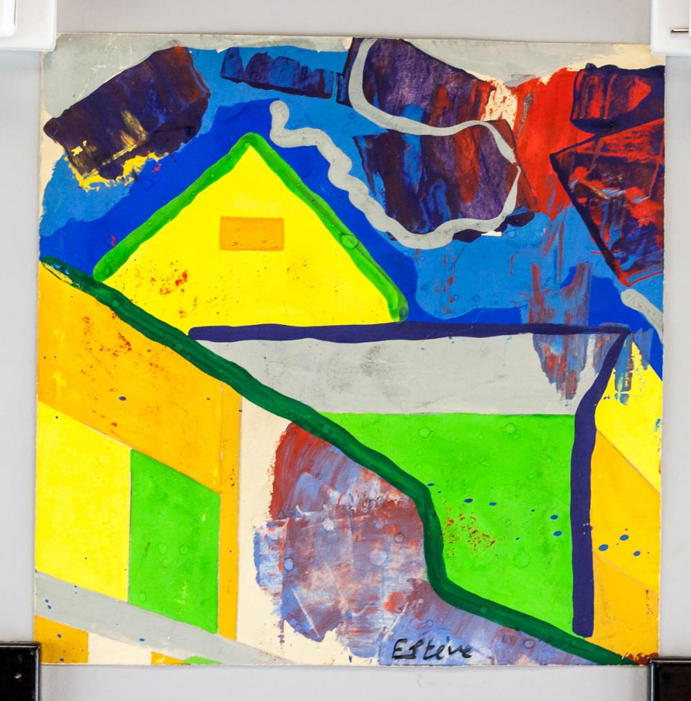 Lot 231: Maurice Esteve French Modernist Mixed Media Paper