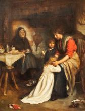 Lot 230: Joseph Clark British School Oil on Canvas Portrait