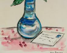 Lot 232: Kees Van Dongen Dutch Fauvist WC on Paper Signed