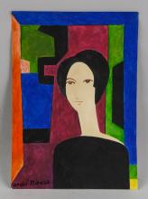 Lot 233: Andre Minaux French Realist Gouache on Paper