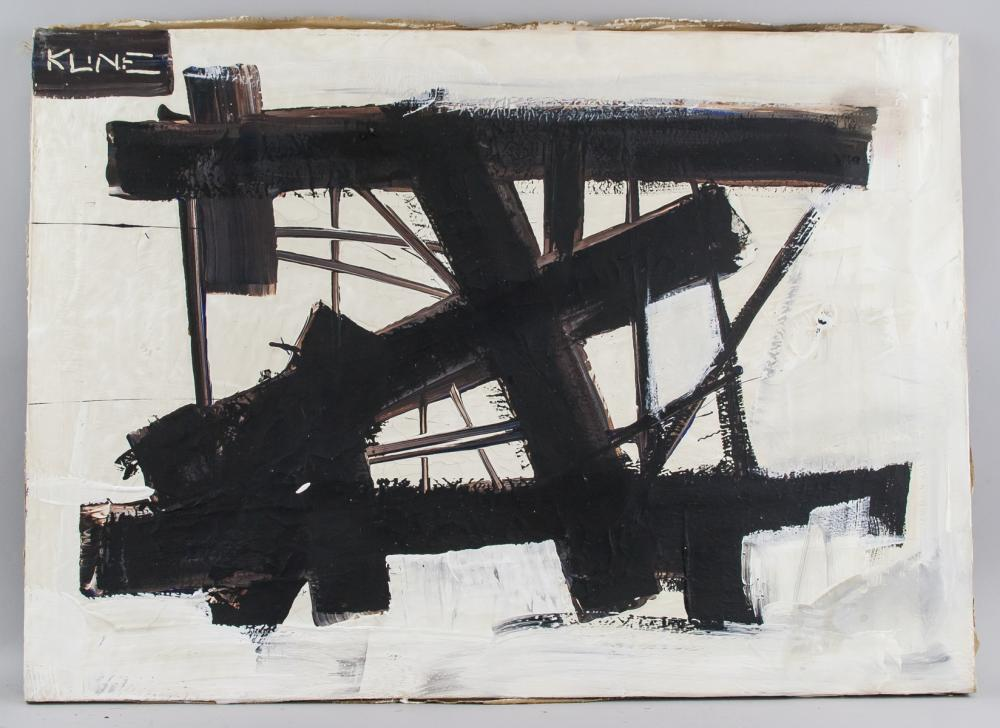 Lot 235: Franz Kline American Abstract Oil on Canvas