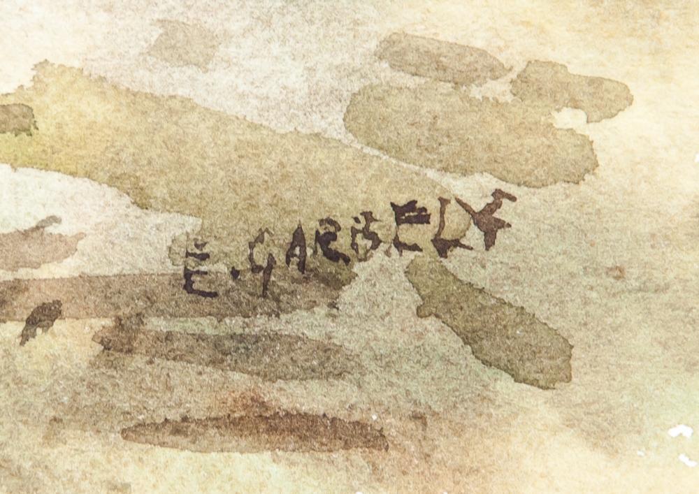 Lot 234: Edward Garbely 1908-1999 US Watercolor Landscape