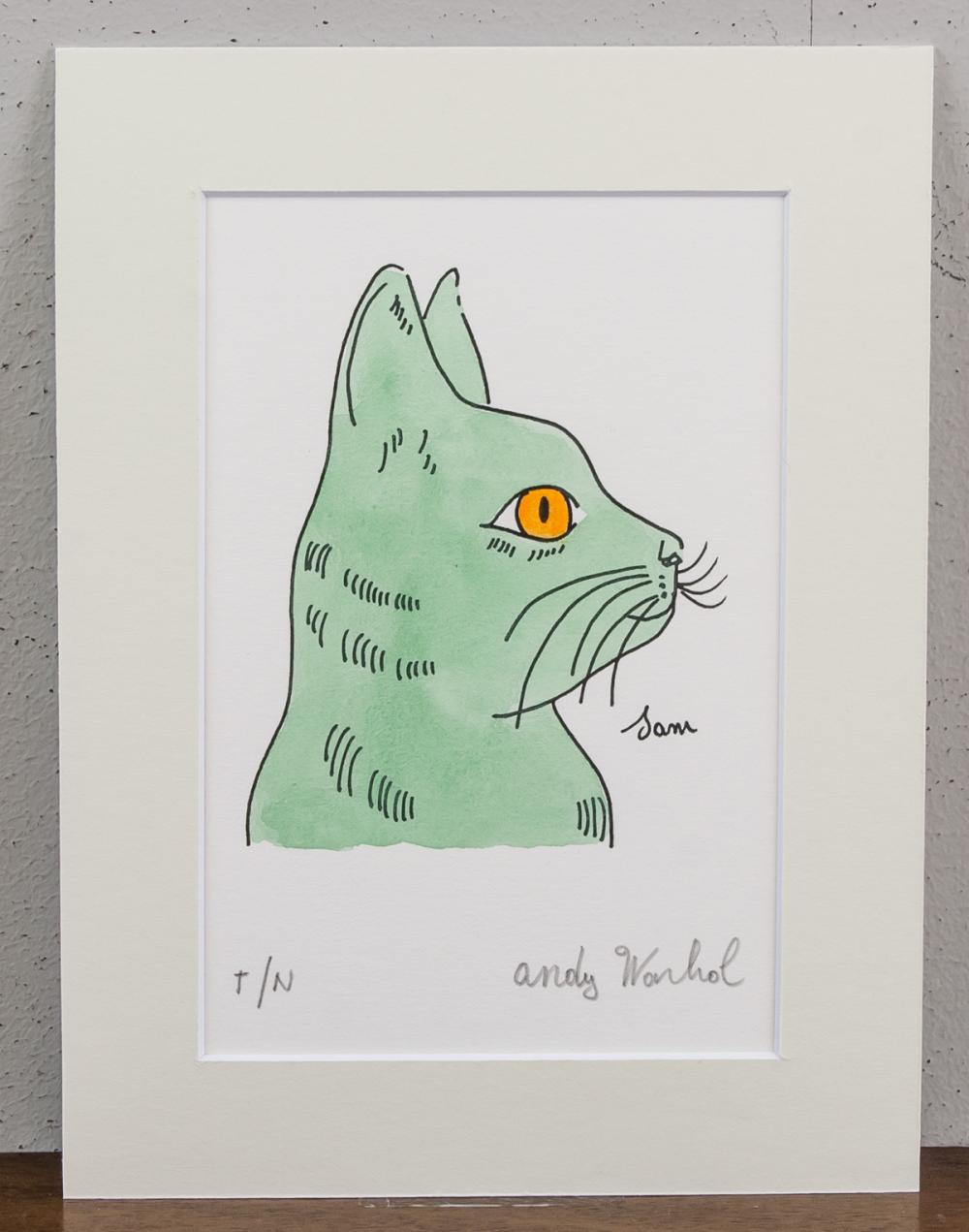 Lot 238: Andy Warhol American Pop Art Signed Ink on Paper