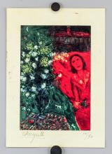 Lot 240: Marc Chagall French Surrealist Signed Litho 10/50
