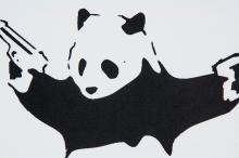 Lot 241: Banksy British Pop Art Lithograph on Paper Panda