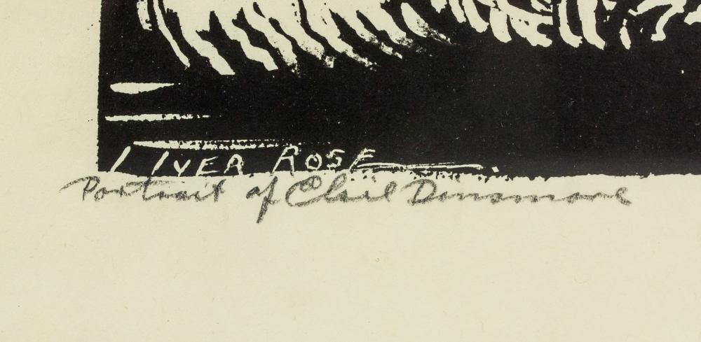 Lot 253: Iver Rose American Signed Litho Paper Portrait