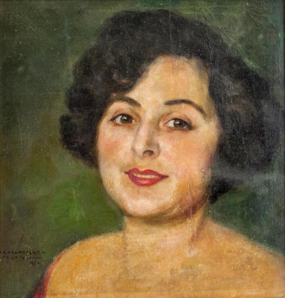 Lot 268: Bertalan De Karlovszky Hungarian Oil Canvas 1926