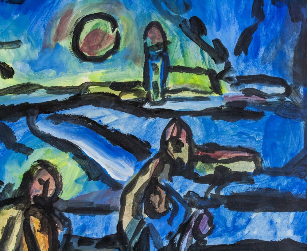 Lot 270: Georges Rouault French Fauvist Oil & Tempera Paper