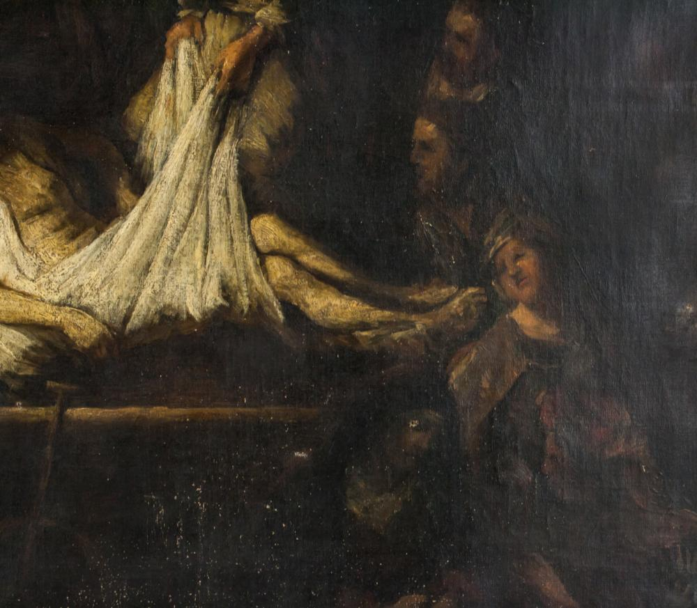 Lot 272: Circle of Rembrandt Oil on Canvas of Christ