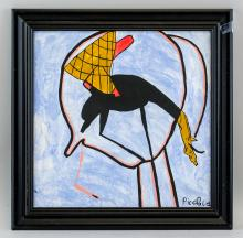 Lot 282: Francis Picabia French Dadaist Oil on Canvas
