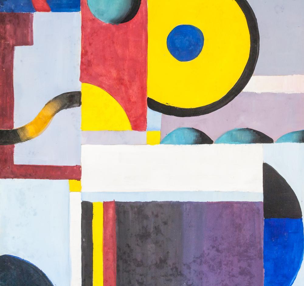 Lot 287: Kagan Anna Russian Modernist Gouache on Paper