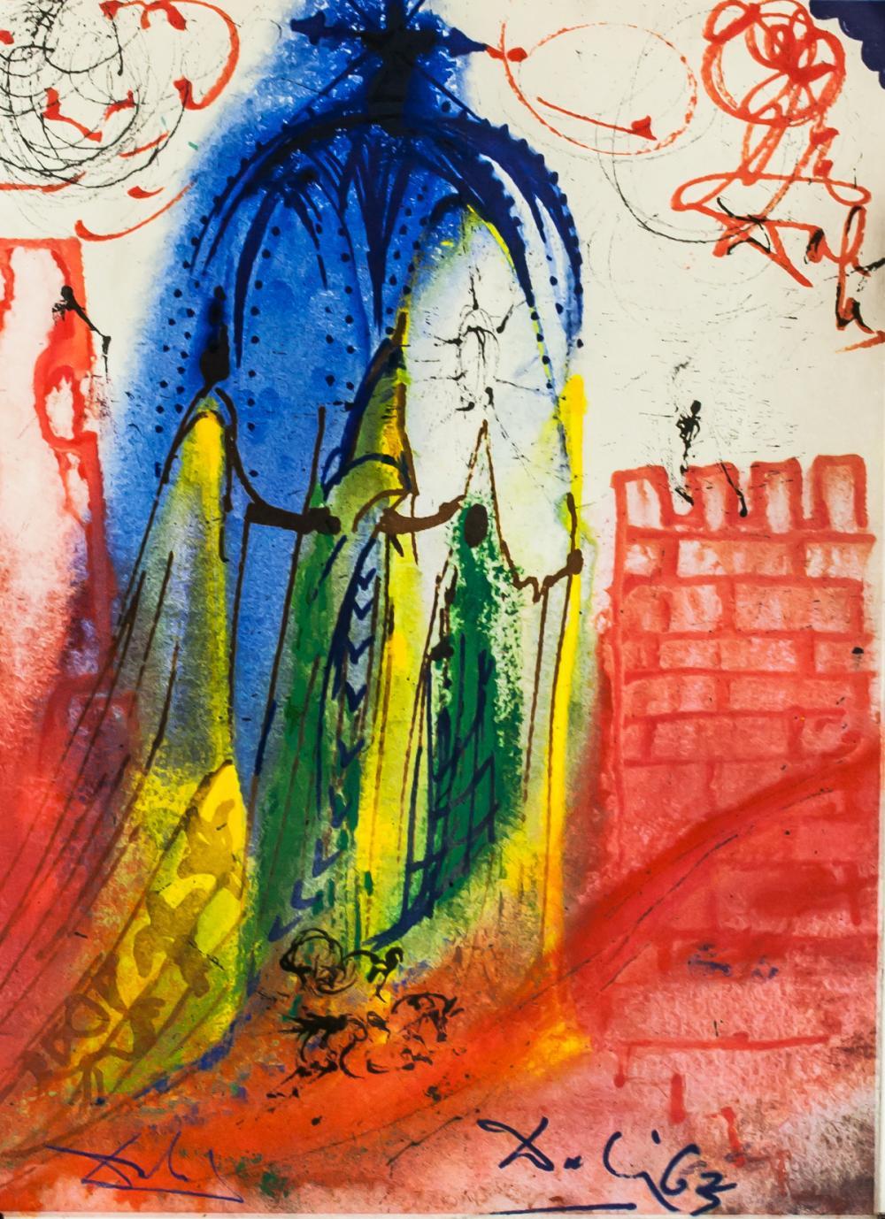 Lot 291: Salvador Dali Lithographs Romeo e Guilett
