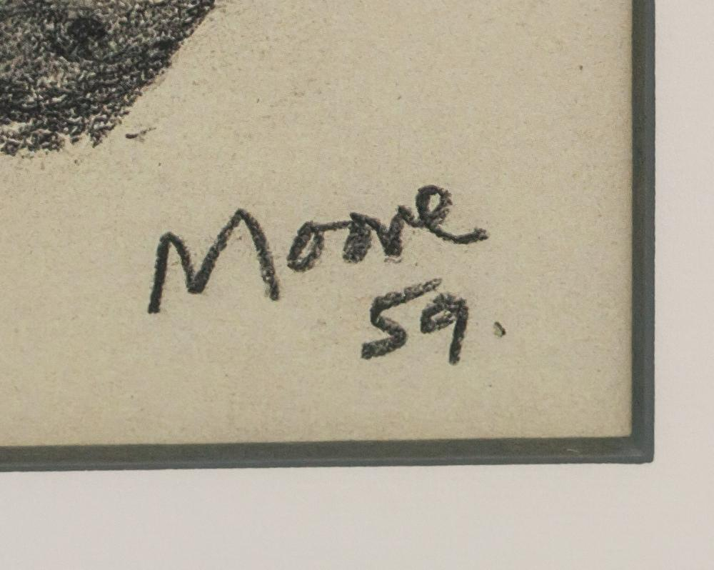 Lot 294: Henry Moore English Print Inscribed Moore 59