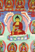 Lot 295: Chinese Tanka (thangka) Painting on Canvas