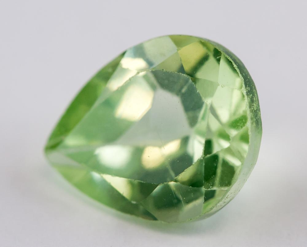 Lot 349: 3.20 Ct Pear Cut Green Natural Peridot Gemstone