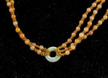 Lot 312: Chinese Various Jade Carved Necklace