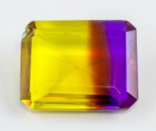 Lot 334: 26 Ct Emerald Cut Multi-color Ametrine Gemstone