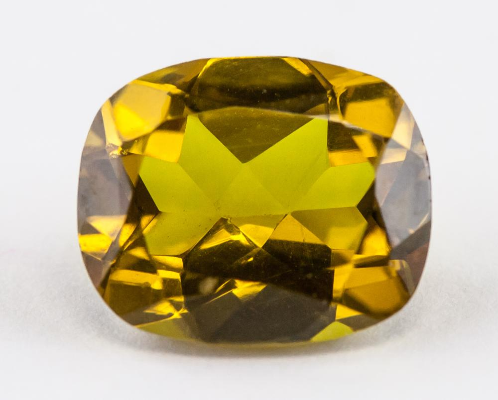Lot 331: 5.10 Ct Cushion Cut Golden Alexandrite Gemstone