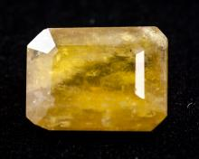 Lot 336: 16.05Ct Emerald Cut Yellow Heliodor Beryl Gemstone
