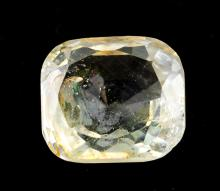 Lot 344: 7.90 Ct Cushion Cut Yellow Gemstone