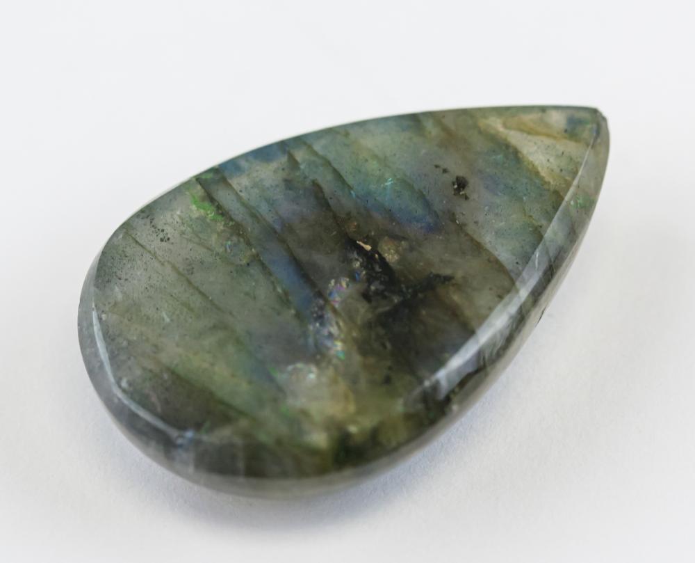 Lot 345: 32.90 Ct Cabochon Natural Labadorite Gemstone