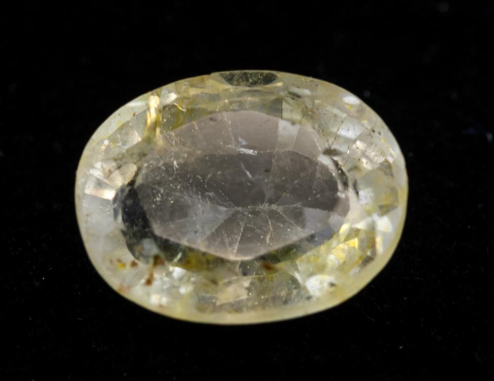 Lot 364: 8.30 Ct Oval Cut Yellow Sapphire Gemstone