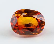 Lot 362: 4.90 Ct Oval Cut Orange Sapphire Gemstone AGSL