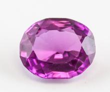 Lot 366: 5.35 Ct Oval Cut Purple Pink Taaffeite Gemstone