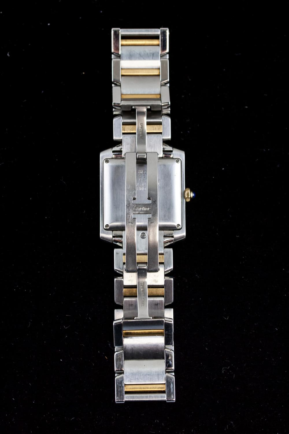 Lot 375: Cartier Men's 18k and Steel Automatic Watch