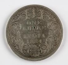 Lot 384: 1884 British India 1 Rupee silver (.917) coin