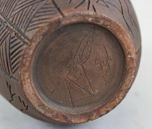 Lot 407: Canadian Six Nations Indigenous Pottery Vase