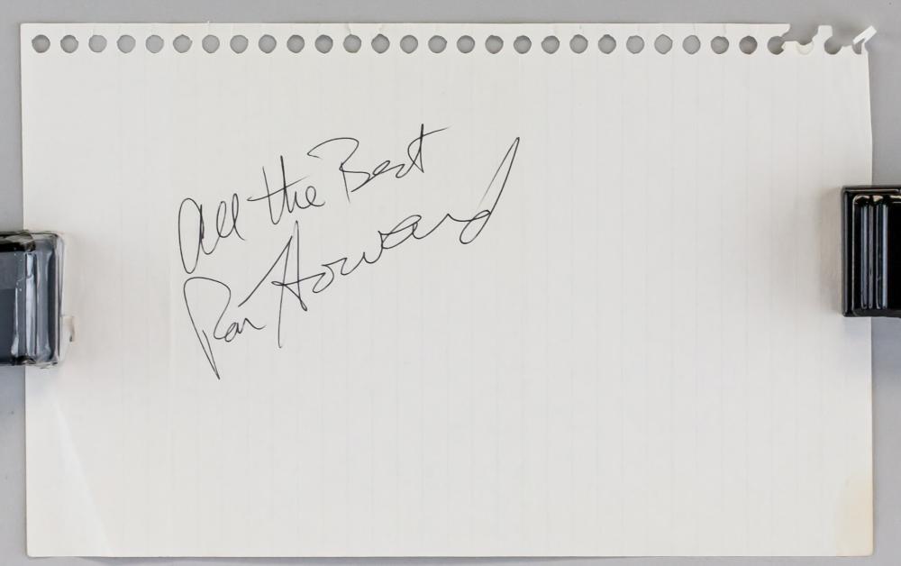 Lot 412: American Filmmaker Ron Howard Autograph