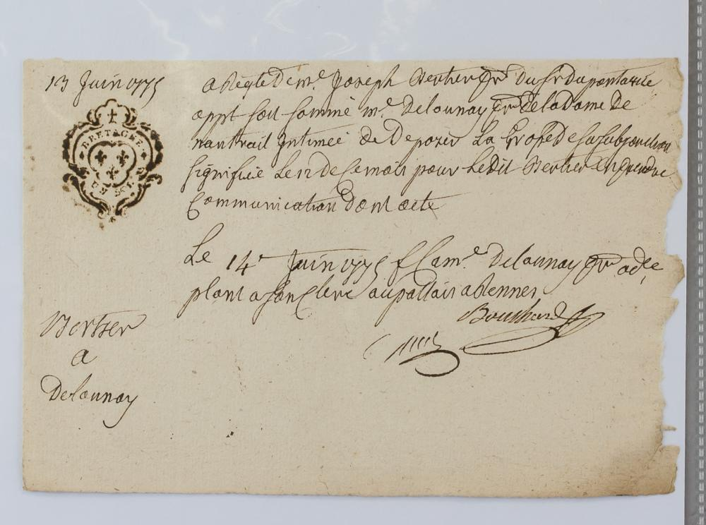 Lot 414: 1775 French National Revenue Documents