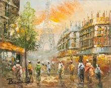 Bernard Parisian Cityscape Street Scene OOC