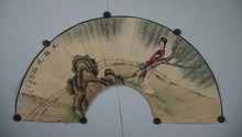 Chinese Lady Fan Painting Signed Tong Ren
