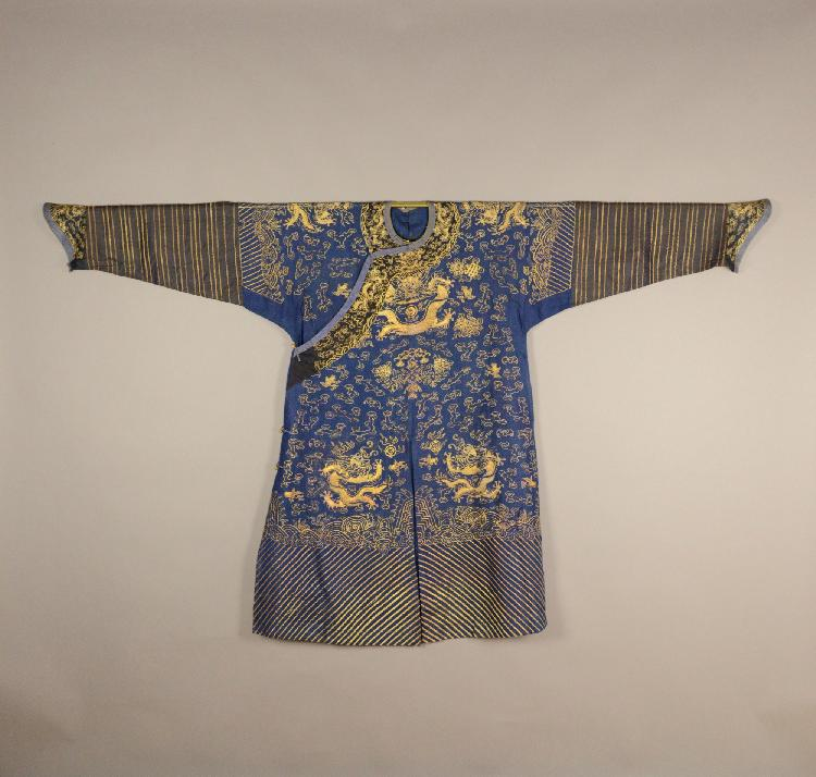 Important Chinese Imperial Brocade Dragon Robe