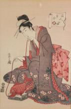 19 C. Japanese Wood Block Print on Paper Framed