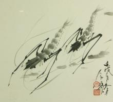 Zhang Zeming b.1965 Chinese Ink on Paper Framed