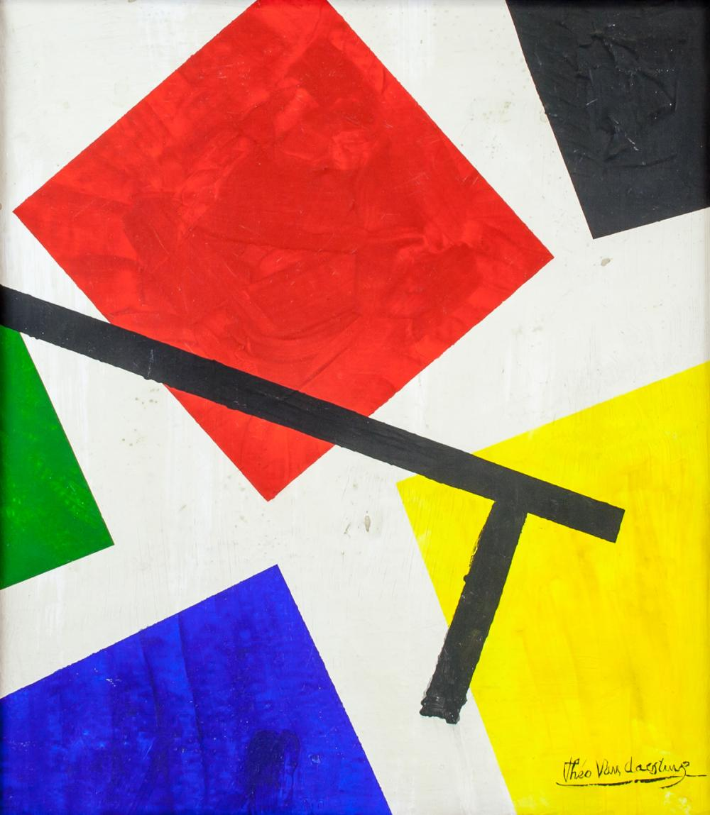 Theo Van Doesburg Dutch Abstract Oil on Canvas