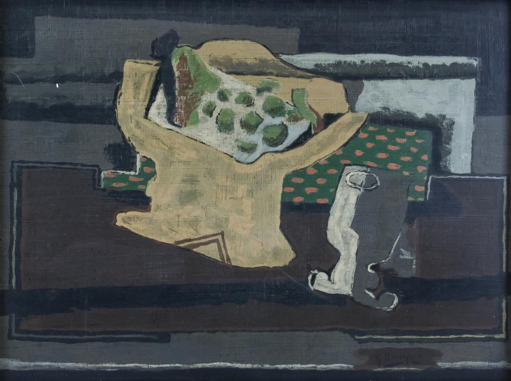 Georges Braque French Cubist Oil on Paper