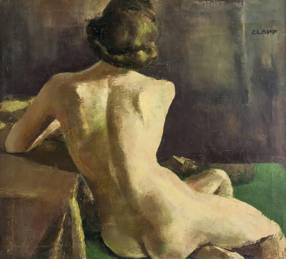 William Henry 1819-1954 Oil on Canvas Nude