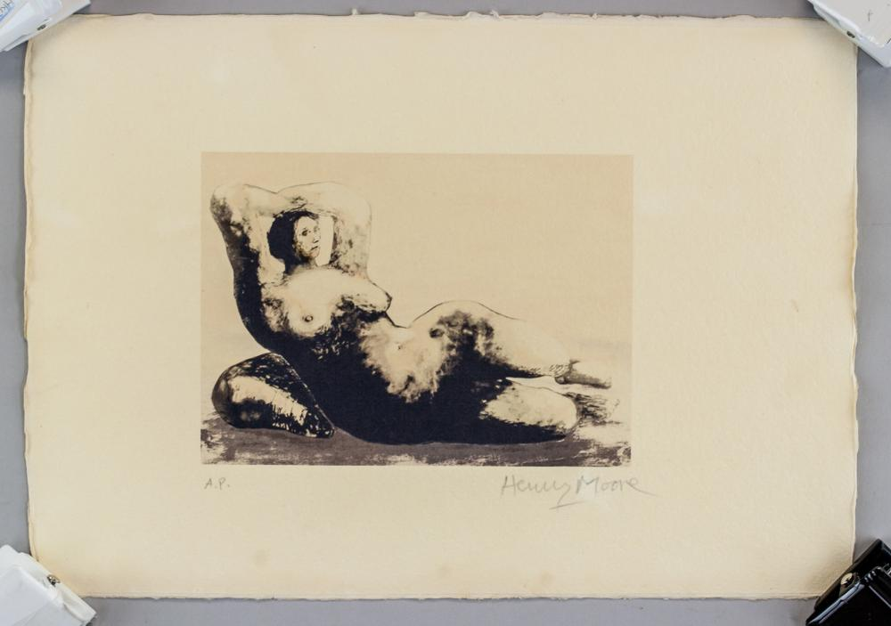 Henry Moore Modern Abstract Litho Signed  AP