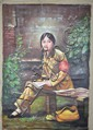 A Chinese Oil on Canvas Painting