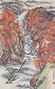 Guan Shan Yue Chinese Watercolour Hanging Scroll