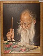Chinese Oil Painting of Zhang Da Qian Signed