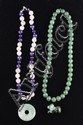 4 Pcs Green Jade Necklaces & Jade Jadeite Pendant