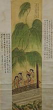 Fei Danxu 1802-1850 Watercolour on Silk Scroll